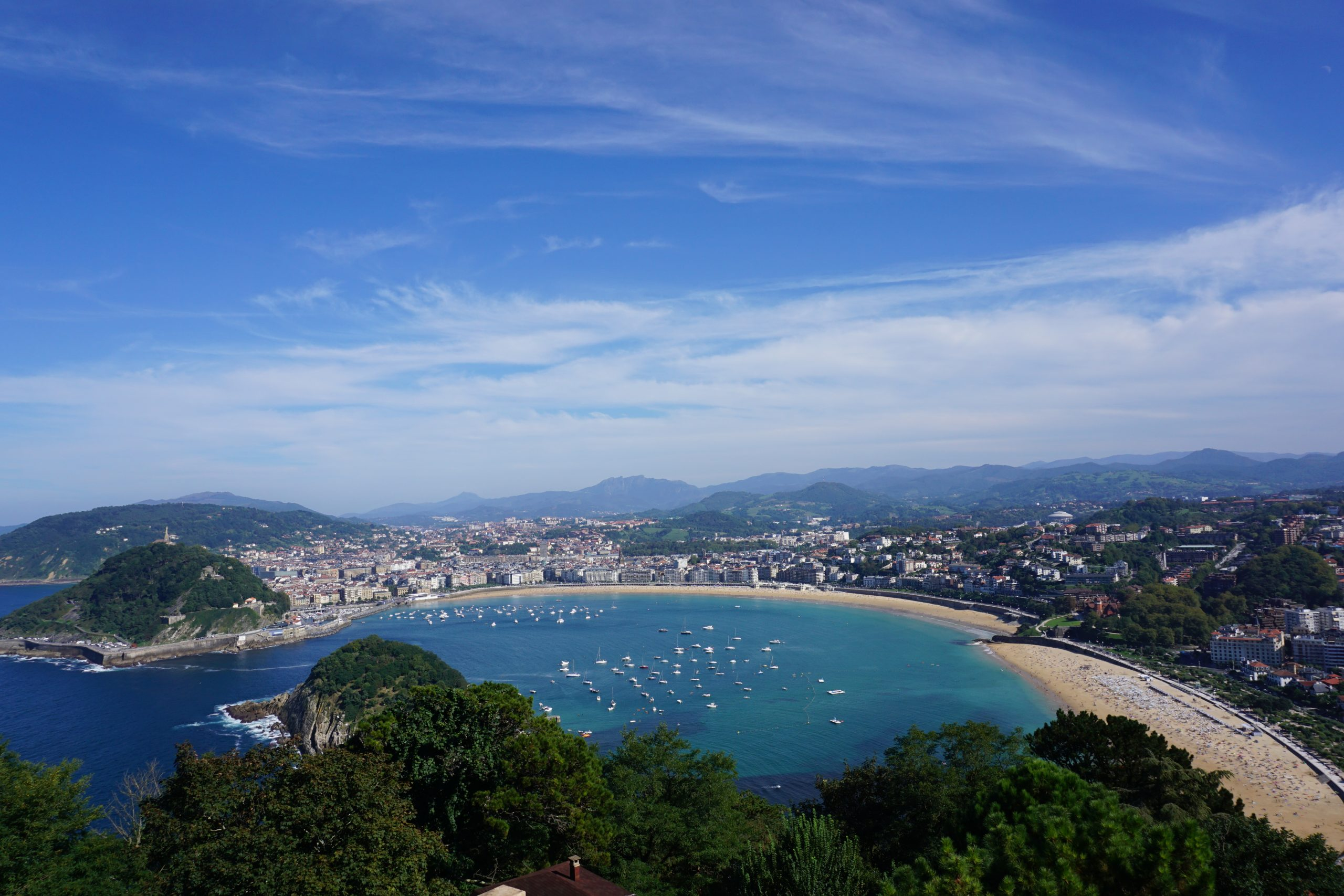 Uitzicht op San Sebastian