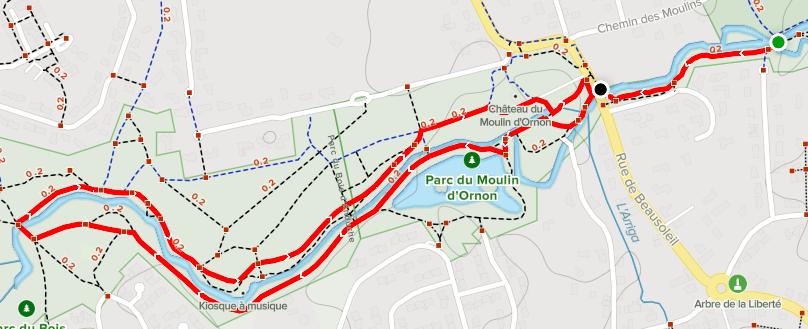 Wandelroute Parc du Moulin d'Ornon